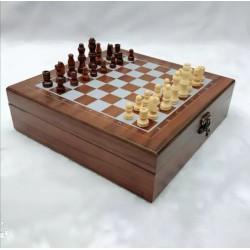 صندوق ترفيه شطرنج خشبي كلاسيك