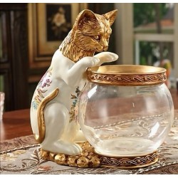 تحفة بورسلان بوعاء زجاجي